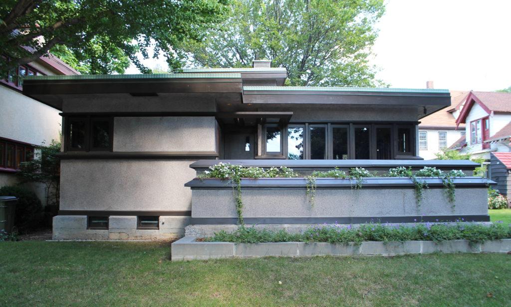 American system built homes the delbert w meier house for Frank lloyd wright modular homes
